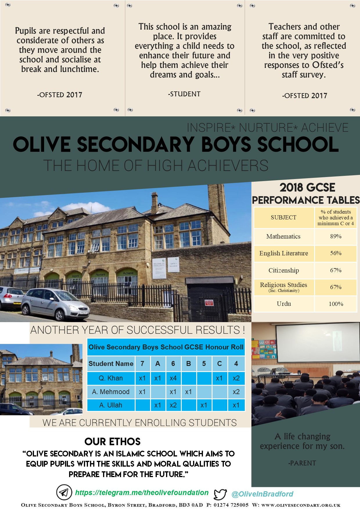 Olive Secondary Schools The Home Of High Achievers